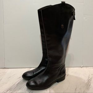 Sam Edelman Black Penny Riding Boots Wide Calf